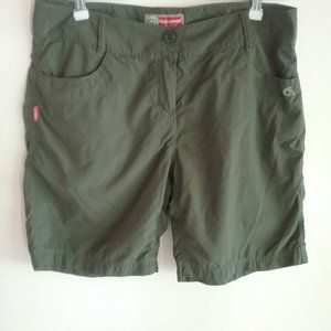 Craghoppers Womens Shorts Insect Shield Green